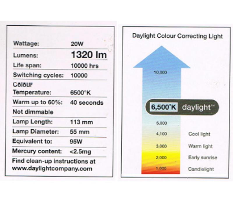 20W Daglichtlamp rond reserve