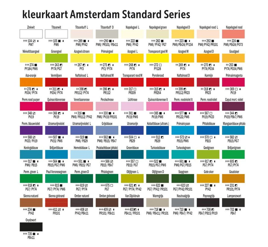 Amsterdam acrylverf 120ml standard 396 Naftolrood middel