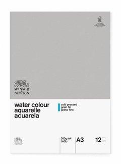 Winsor & Newton Classic Aquarelpapier Blok 1-zijdig gelijmd 300gr 12 vel A3