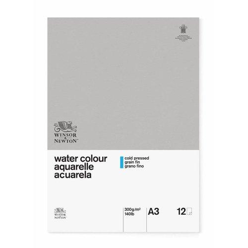Classic Aquarelpapier Blok 1-zijdig gelijmd 300gr 12 vel A3