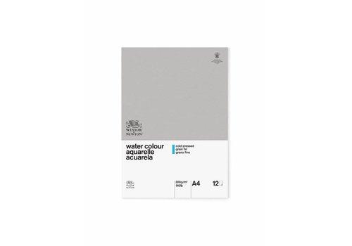 Winsor & Newton Classic Aquarelpapier Blok 1-zijdig gelijmd 300gr 12 vel A4