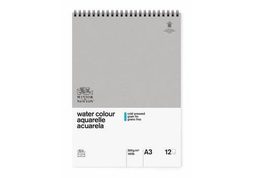 Winsor & Newton Classic Aquarelpapier Spiraalblok 300gr 12 vel A3