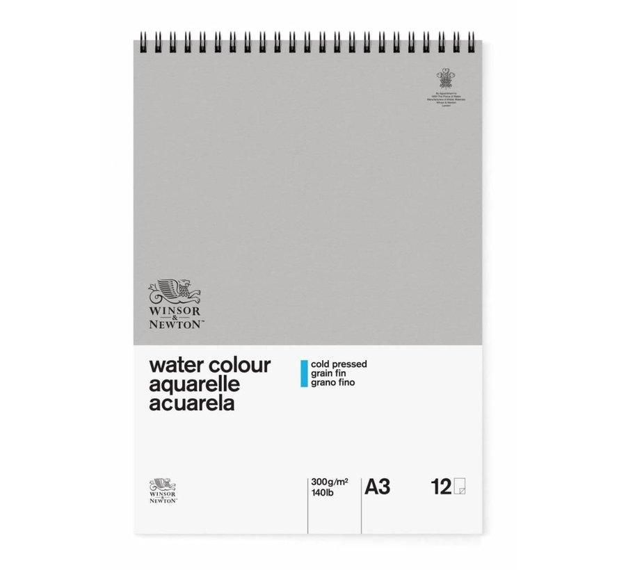 Classic Aquarelpapier Spiraalblok 300gr 12 vel A3