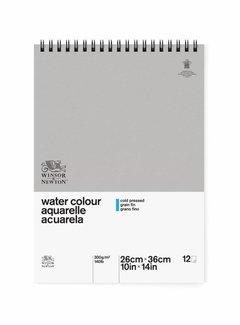 Winsor & Newton Classic Aquarelpapier Spiraalblok 300gr 12 vel 26x36cm
