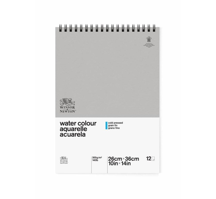Classic Aquarelpapier Grain fin Spiraalblok 300gr 12 vel 26x36cm