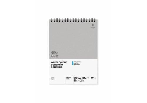 Winsor & Newton Classic Aquarelpapier Grain fin Spiraalblok 300gr 12 vel A4