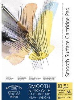 Winsor & Newton Teken- en schetsblok glad oppervlak Gelijmd 25 Vel 220gr. A4