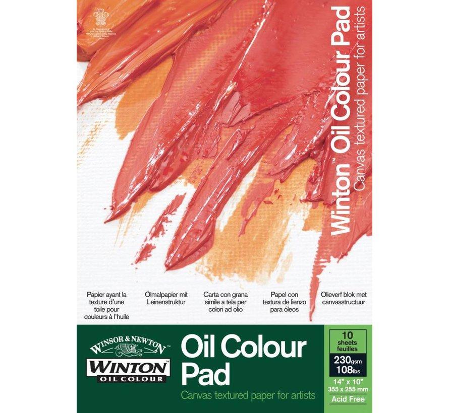 Winton Olieverfblok 1-zijdig gelijmd 230gr. 10 vel 250x170mm