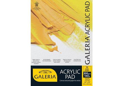 Winsor & Newton Galeria Acrylblok 1-zijdig gelijmd 15 vel 300gr A4