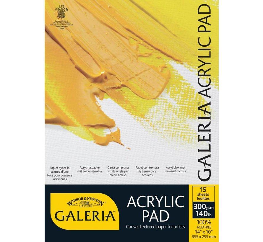 Galeria Acrylblok 1-zijdig gelijmd 15 vel 300gr A4