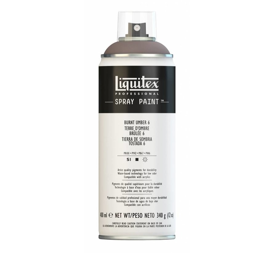 Liquitex acrylverf spuitbus 400ml Burnt Umber 6