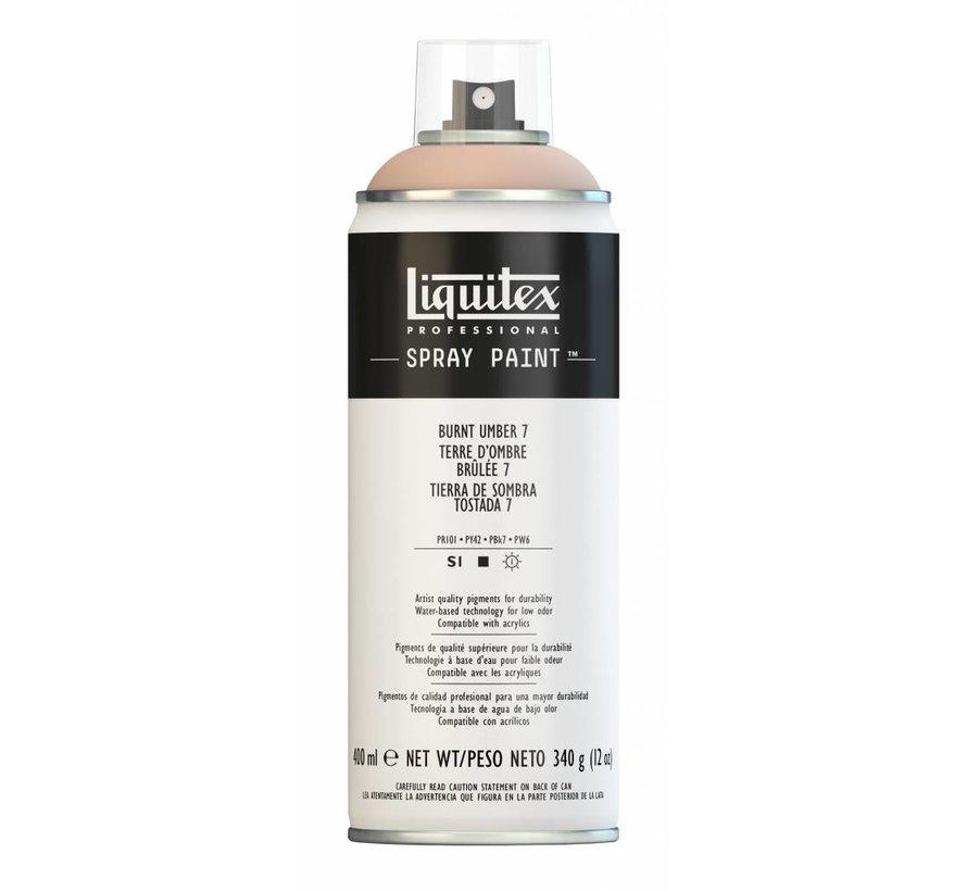 Liquitex acrylverf spuitbus 400ml Burnt Umber 7