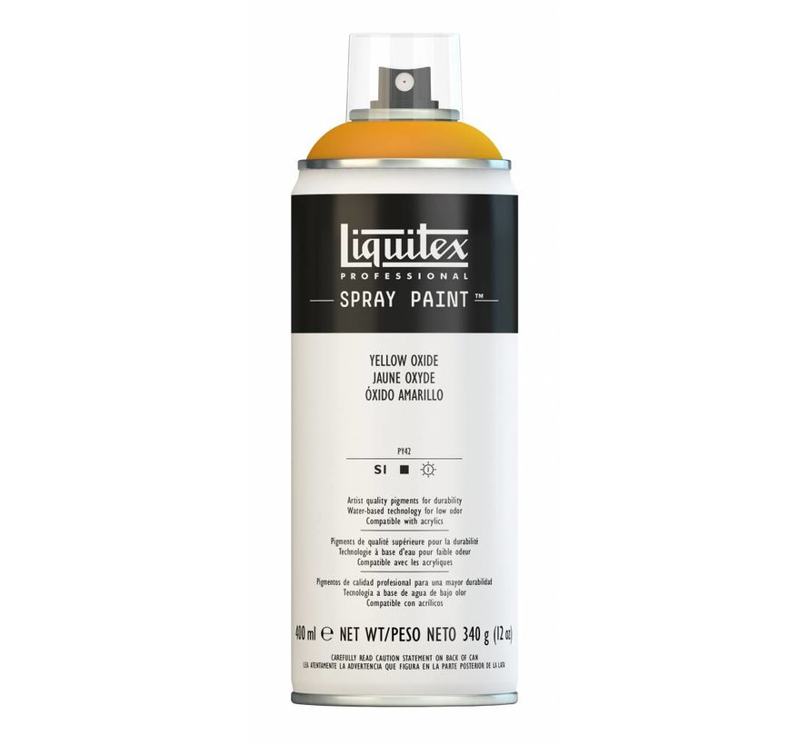 Liquitex acrylverf spuitbus 400ml Yellow Oxide