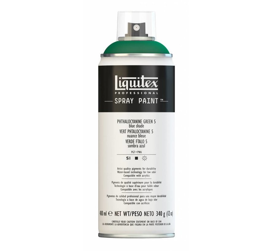 Liquitex acrylverf spuitbus 400ml Phthalo Green 5 (Blue shade)