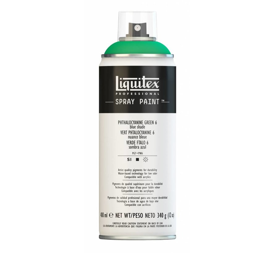 Liquitex acrylverf spuitbus 400ml Phthalo Green 6 (Blue shade)