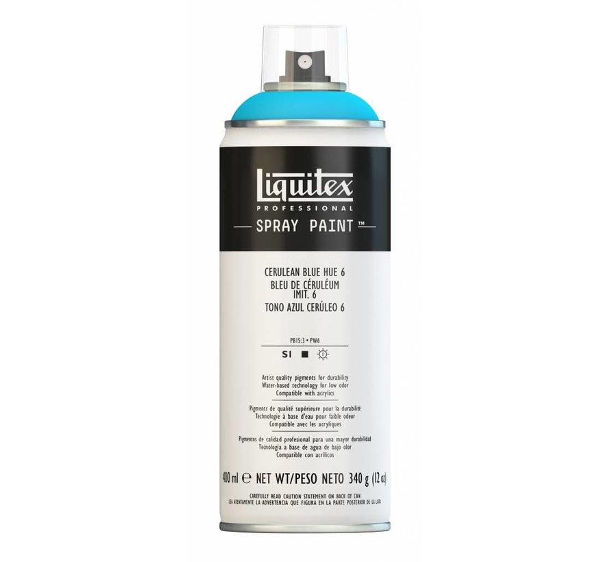 Liquitex acrylverf spuitbus 400ml Cerulean Blue Hue 6