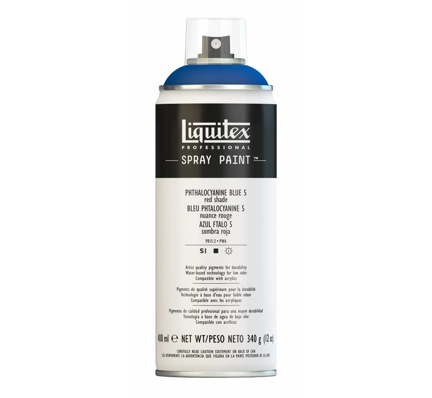 Liquitex acrylverf spuitbus 400ml Phthalo Blue 5 (Red shade)