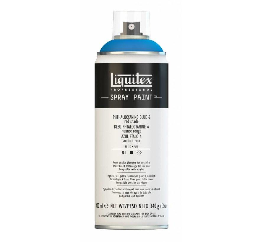 Liquitex acrylverf spuitbus 400ml Phthalo Blue 6 (Red shade)