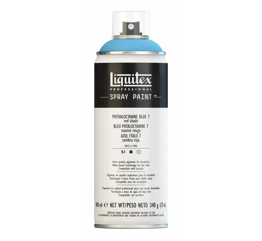 Liquitex acrylverf spuitbus 400ml Phthalo Blue 7 (Red shade)