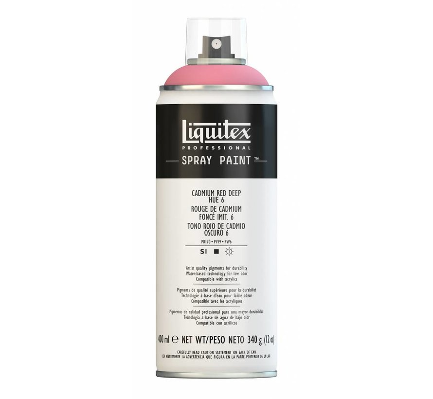 Liquitex acrylverf spuitbus 400ml Cadmium Red Deep Hue 6