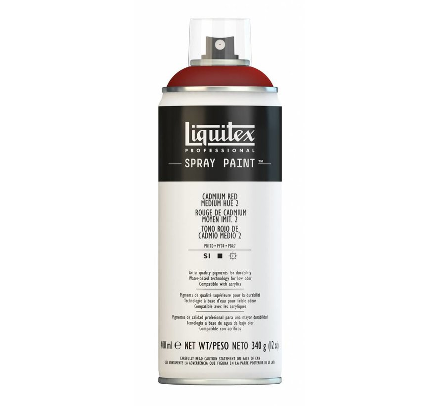 Liquitex acrylverf spuitbus 400ml Cadmium Red Medium Hue 2