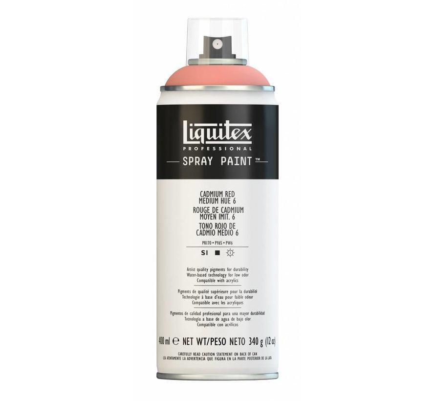 Liquitex acrylverf spuitbus 400ml Cadmium Red Medium Hue 6