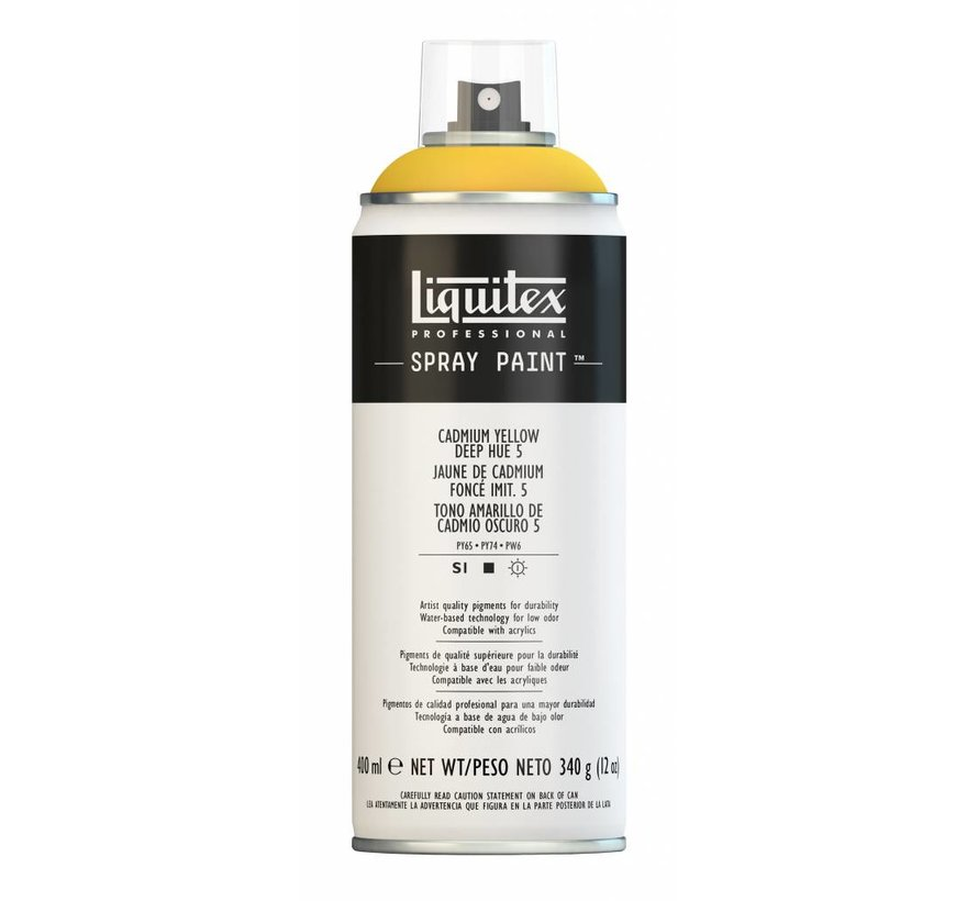Liquitex acrylverf spuitbus 400ml Cadmium Yellow Deep Hue 5