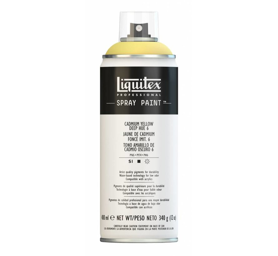 Liquitex acrylverf spuitbus 400ml Cadmium Yellow Deep Hue 6