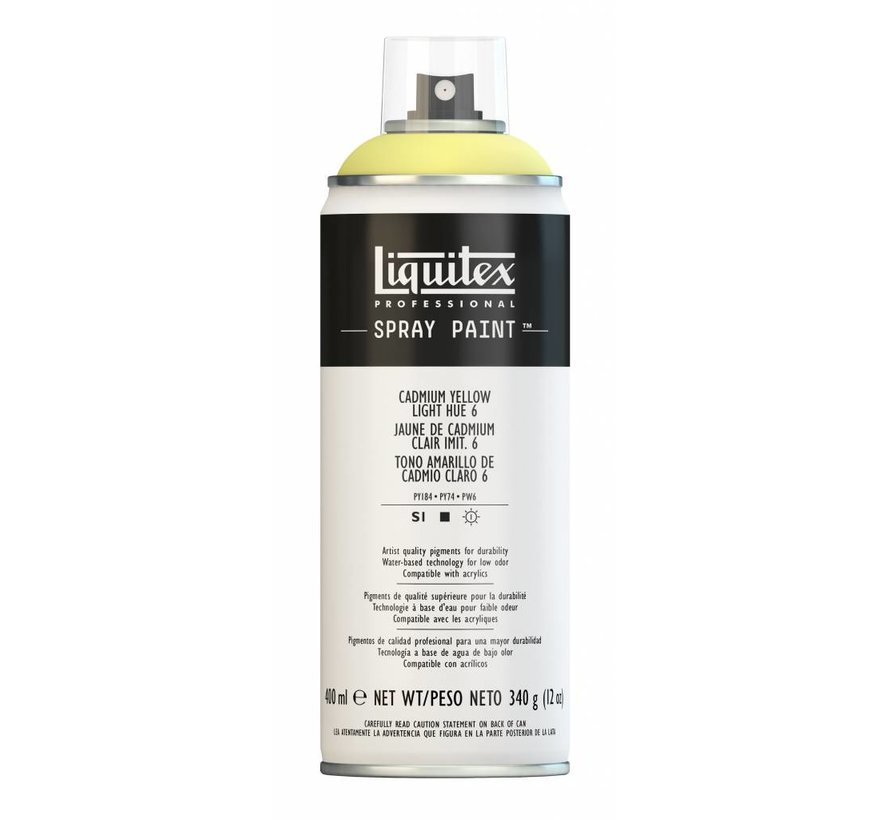 Liquitex acrylverf spuitbus 400ml Cadmium Yellow Light Hue 6
