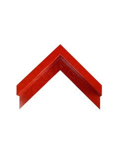 Regenboog huismerk Baklijst 3D glans rood gelakt