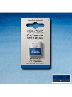 Winsor & Newton W&N pro. aquarelverf halve nap Antwerp Blue S1