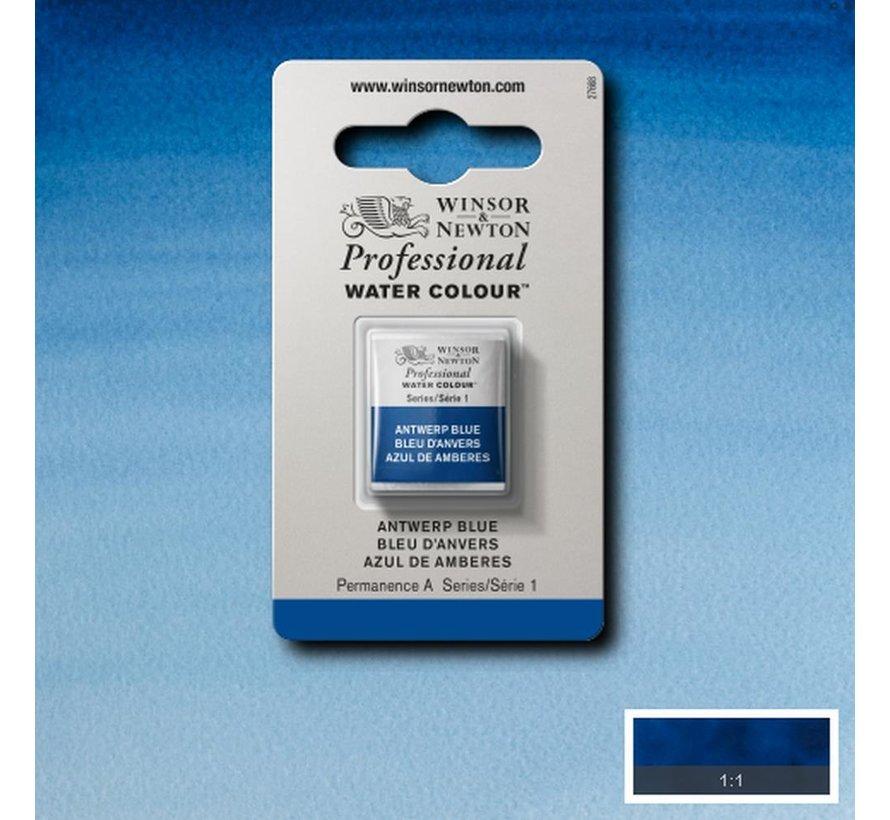 W&N pro. aquarelverf halve nap Antwerp Blue S1