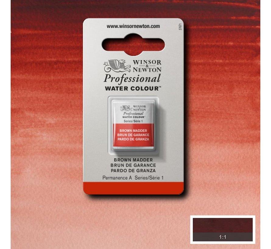 W&N pro. aquarelverf halve nap Brown Madder S1