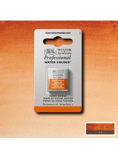 Winsor & Newton W&N pro. aquarelverf halve nap Burnt Sienna S1