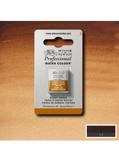 Winsor & Newton W&N pro. aquarelverf halve nap Burnt Umber S1