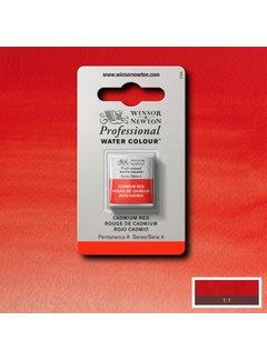 Winsor & Newton W&N pro. aquarelverf halve nap Cadmium Red S4