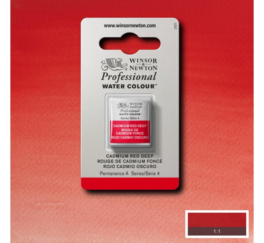 W&N pro. aquarelverf halve nap Cadmium Red Deep S4