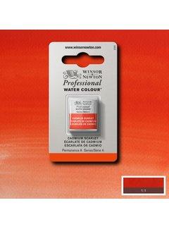 Winsor & Newton W&N pro. aquarelverf halve nap Cadmium Scarlet S4