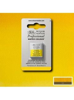 Winsor & Newton W&N pro. aquarelverf halve nap Cadmium Yellow Pale S4