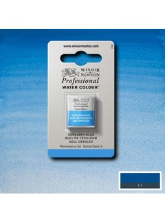 Winsor & Newton W&N pro. aquarelverf halve nap Cerulean Blue S3