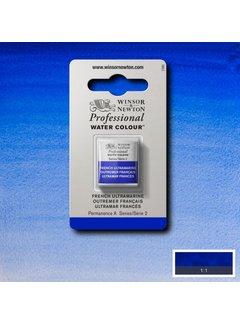 Winsor & Newton W&N pro. aquarelverf halve nap French Ultramarine S2