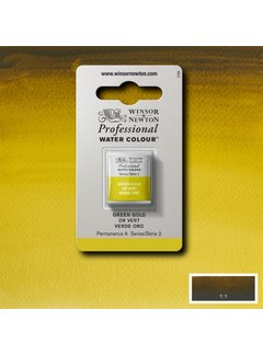 Winsor & Newton W&N pro. aquarelverf halve nap Green Gold S2