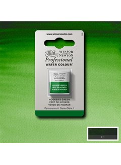 Winsor & Newton W&N pro. aquarelverf halve nap Hookers Green S1