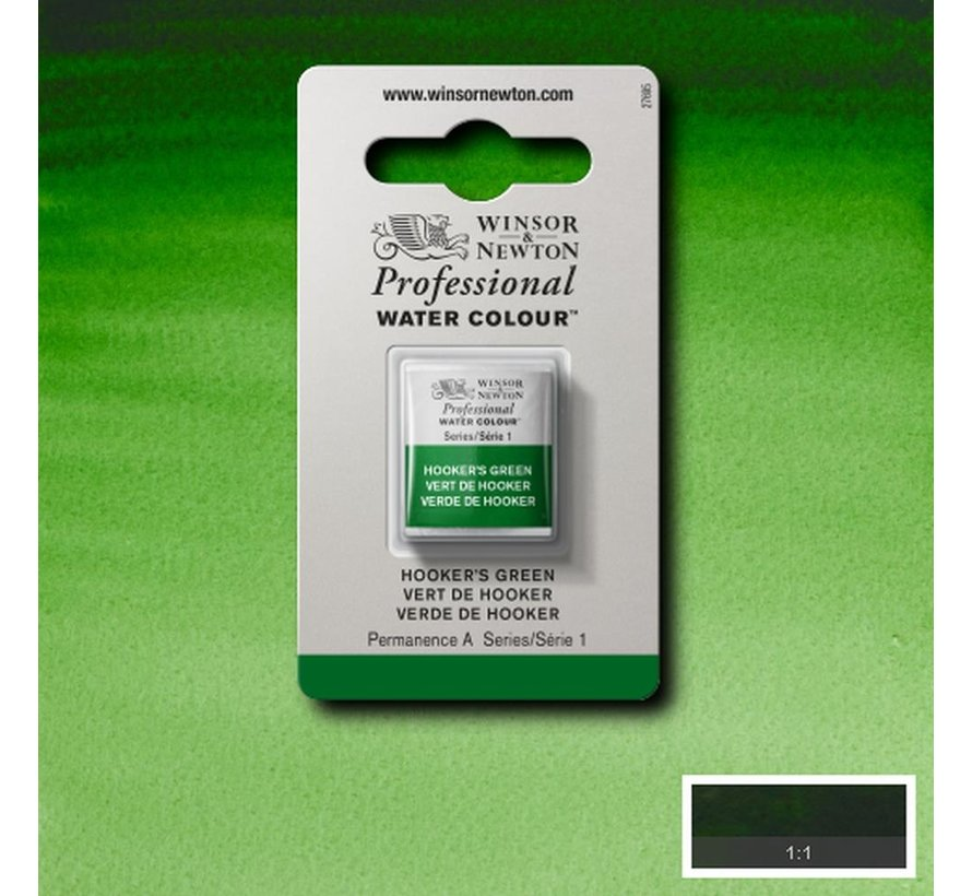 W&N pro. aquarelverf halve nap Hookers Green S1