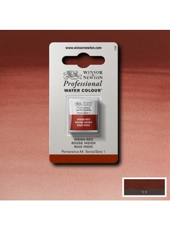 Winsor & Newton W&N pro. aquarelverf halve nap Indian Red S1