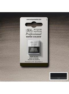 Winsor & Newton W&N pro. aquarelverf halve nap Ivory Black S1