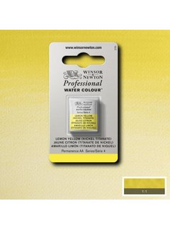 Winsor & Newton W&N pro. aquarelverf halve nap Lemon Yellow (Nickel Tit.) S4
