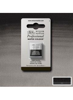 Winsor & Newton W&N pro. aquarelverf halve nap Lamp Black S1