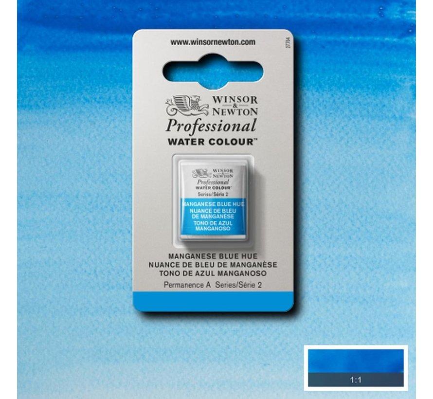 W&N pro. aquarelverf halve nap Manganese Blue Hue S2