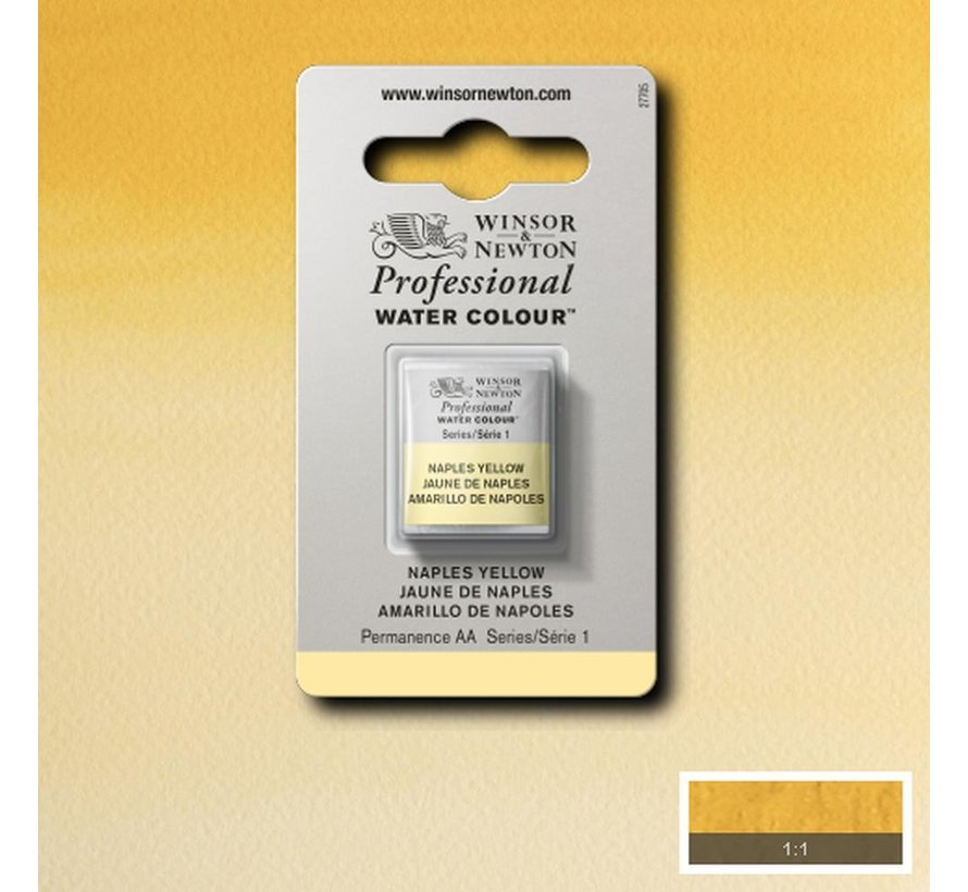 W&N pro. aquarelverf halve nap Naples Yellow S1